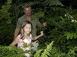 jungle dad and girl