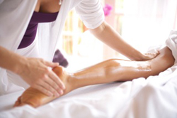 massaging_leg