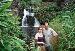 weekend retreat coupld waterfall